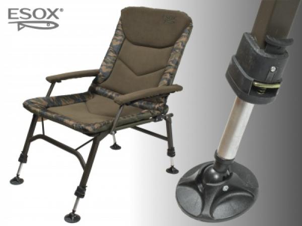 Kreslo Esox Steel Chair LUX 2018