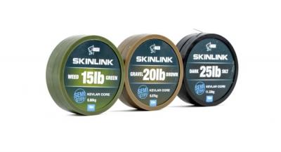 Stužená šnúrka - Nash SKINLINK SEMI-STIFF Weed Green