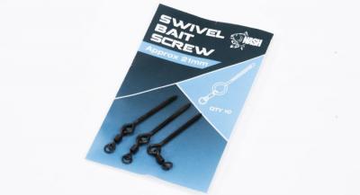 Kovová skrutka s mikro obratlíkom - Swivel Bait Screw 21mm