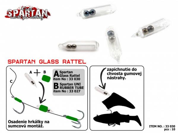 Sklenené hrkálky - Esox Spartan Glass Rattel