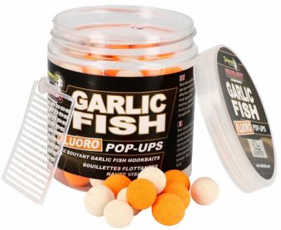 Plávajúce Boilies - Starbaits Fluoro Pop ups Garlic Fish 14mm