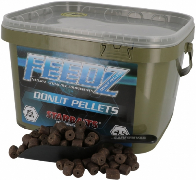Halibutové pelety s dierou - Starbaits Feedz donuts - 20 mm