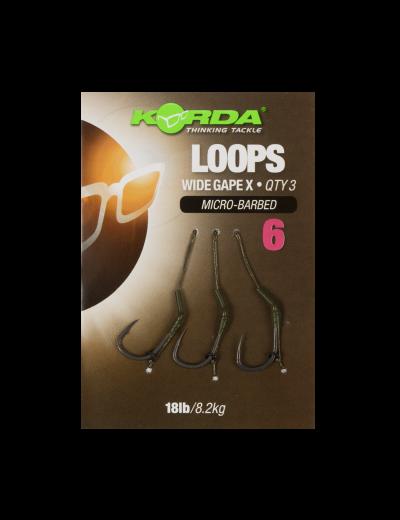 Hotové náväzce - Korda Loop Rigs DF Wide Gape X 18lb