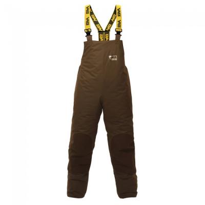Nepremokavé zateplené nohavice - Team Vass 175 Winter Lined Bib & Brace Khaki Edition