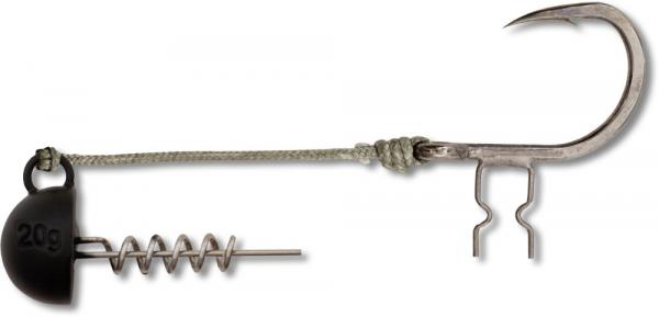 Šrobovacia jigová hlava - BLACK CAT SHAD CLAW RIG 6/0