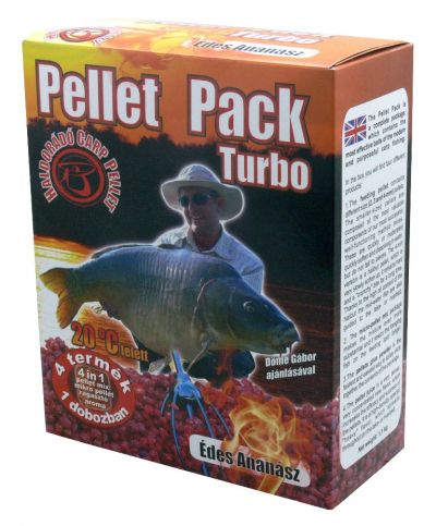 Vnadiace pelety Haldorádó Pellet Pack Turbo Sladký Ananás 1000g