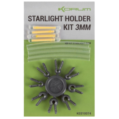 Világító patron szett Korum Starlight Holder Kit 3mm