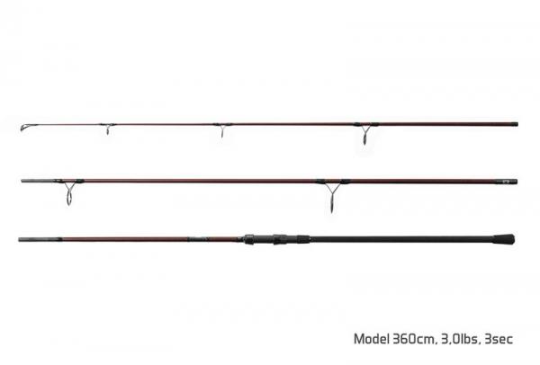 Prút - Delphin ETNA E3 / 3 diely 360cm/3,00lbs