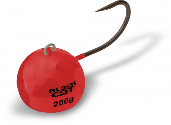 Jigová hlava - 80G RED BLACK CAT FIRE-BALL 1pcs