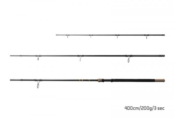 Feedrový prút Delphin RIVER Trophy NXT +4 špičky 400cm/200g/3 diely